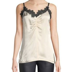 Helmut Lang Lace Trimmed Camisole Top